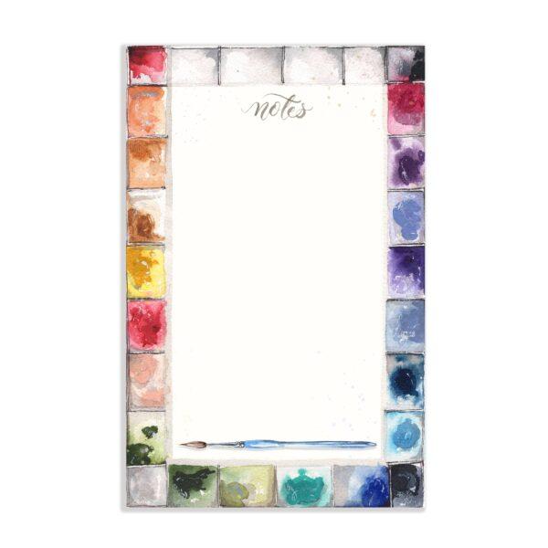 Watercolor Artist Paint Palette Notepad
