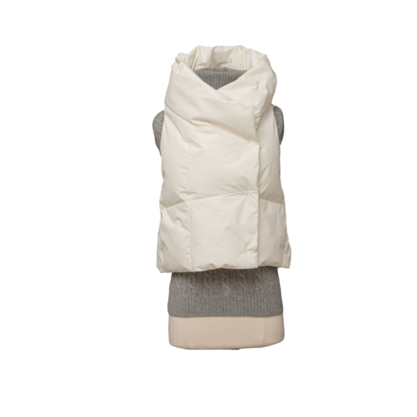 Winter White Waterproof Pretty Puffer Vest