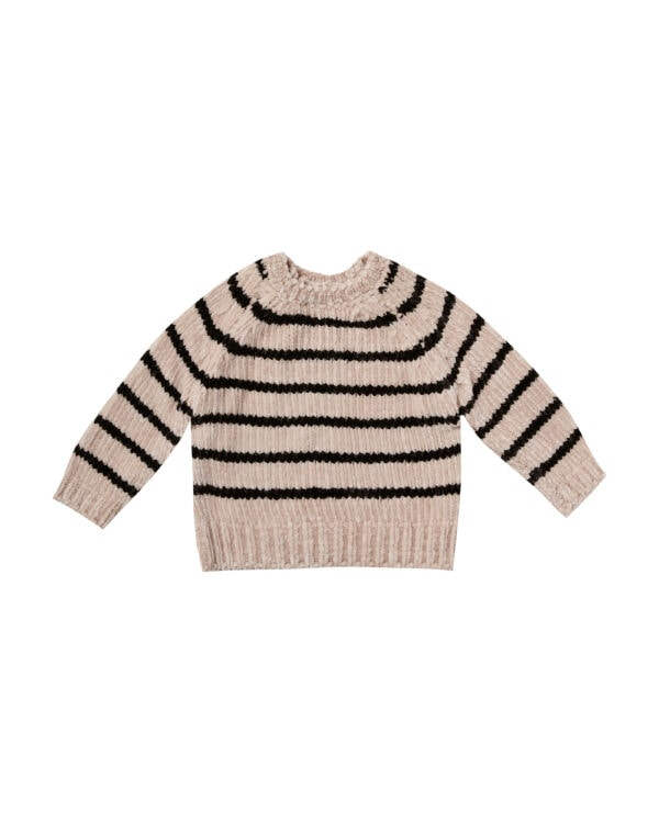 Rylee & Cru Chenille Oat & Black Stripe Sweater