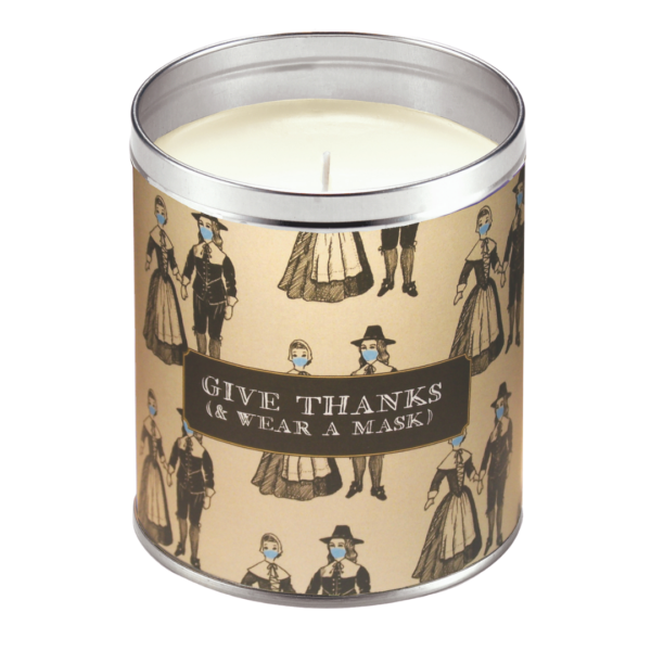 Aunt Sadies Give Thanks & Wear a Mask Candle