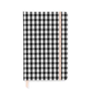 Black and White Gingham Journal