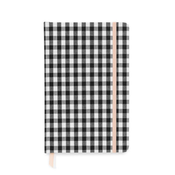 Black and White Gingham Journal