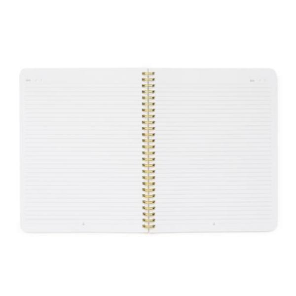 Blue Stripe Notebook Open