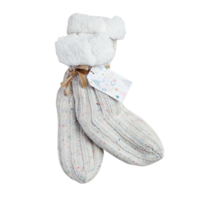 Cream Slipper Socks