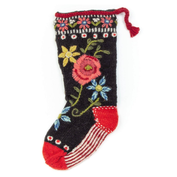 Floral Spray Stocking