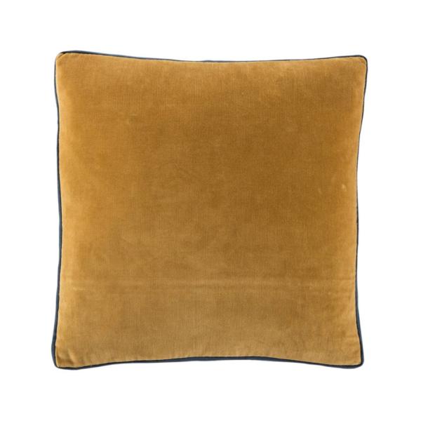 Harvest Gold and Blueberry Boxed Velvet Pillow