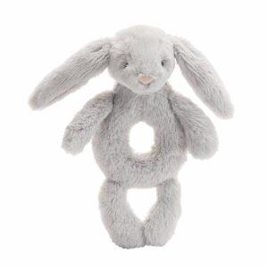 Jellycat Grey Bashful Bunny Rattle