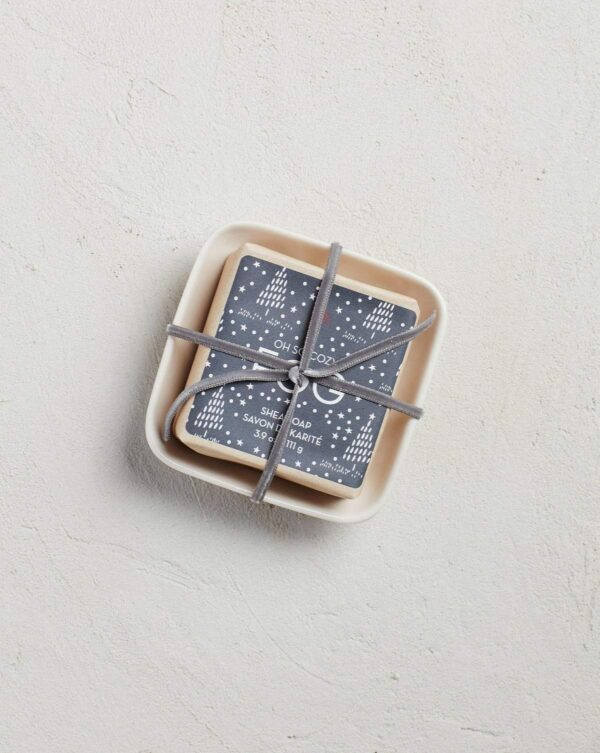 MerSea Fog Holiday Bar Soap in Ceramic Dish