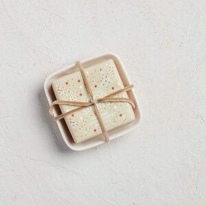 MerSea Good Spirits Holiday Bar Soap in Ceramic Dish