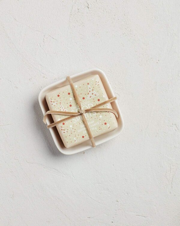 MerSea Good Spirits Holiday Bar Soap in Ceramic Dish