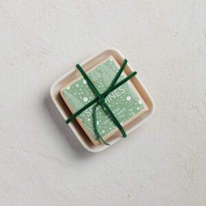 MerSea Sea Pines Holiday Bar Soap in Ceramic Dish