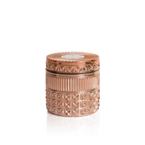 Pink Grapefruit and Prosecco Rose Gold Faceted Jar Candle