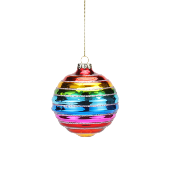Rainbow Ball Ornament