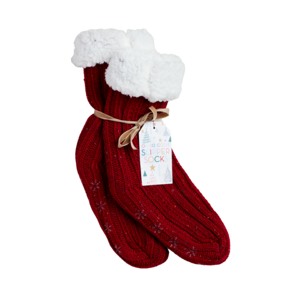 Red Slipper Socks