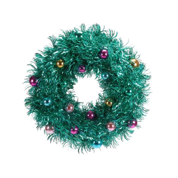 Teal Tinsel Wreath