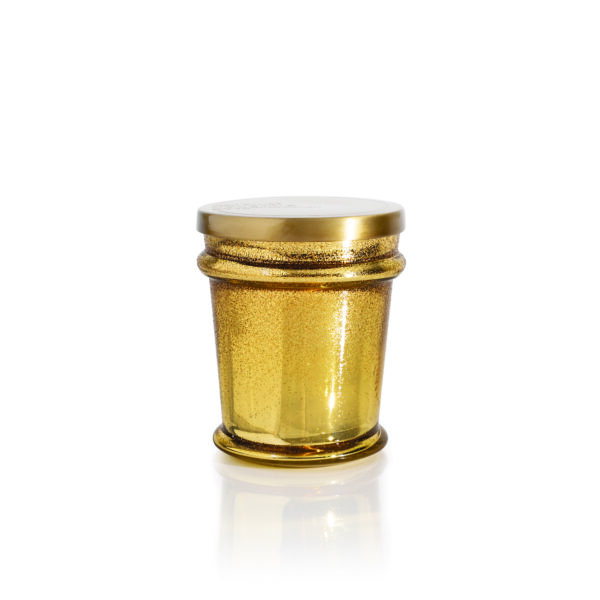 Volcano Gold Found Glass Candle