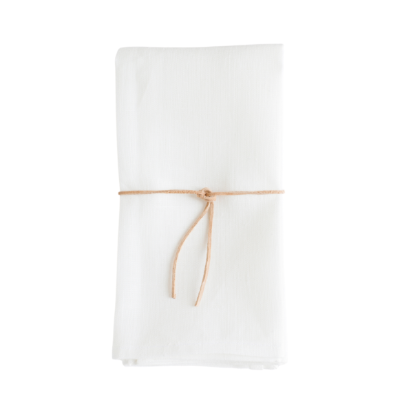 White Linen Heirloom Napkins