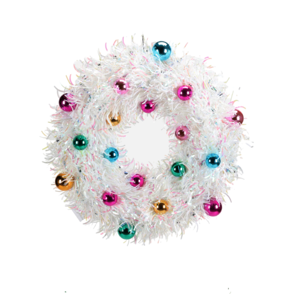 White Tinsel Wreath