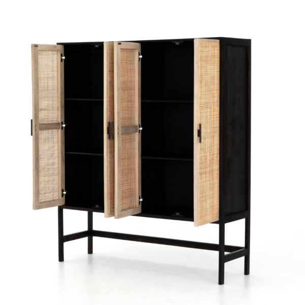 Woven Willa Cabinet Open