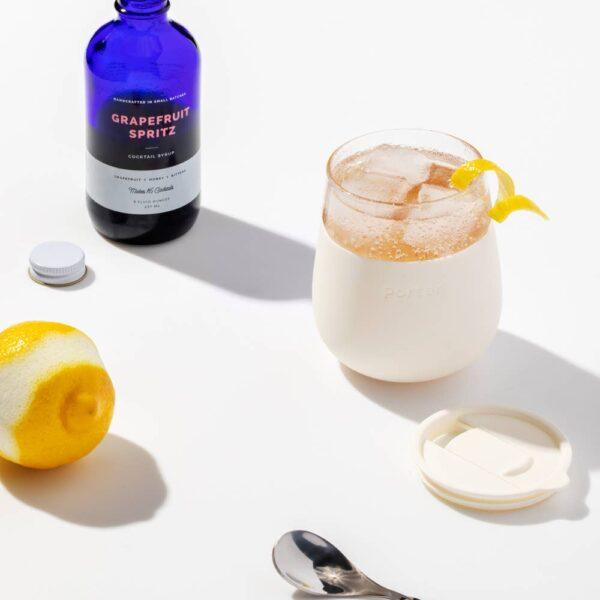 Cream Glass Cup Editorial
