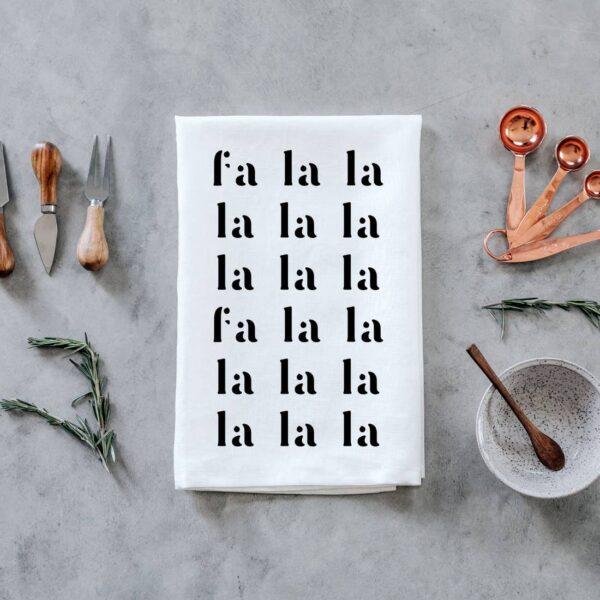 Fa La La La La Holiday Tea Towel