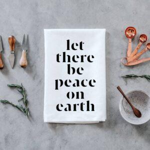 Peace On Earth Tea Towel