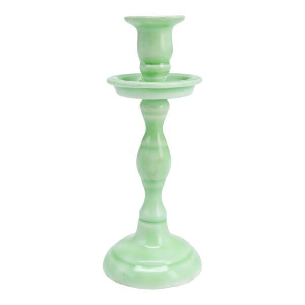 Medium Mint Tapered Candle Holder