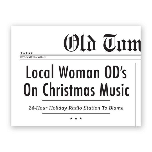 OD on Christmas Music Card