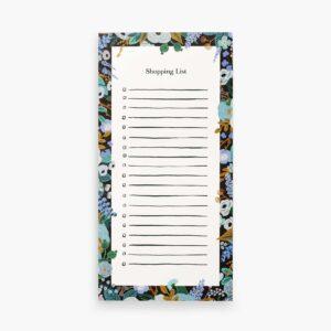 Rifle Paper Co Blue Floral Market Pad