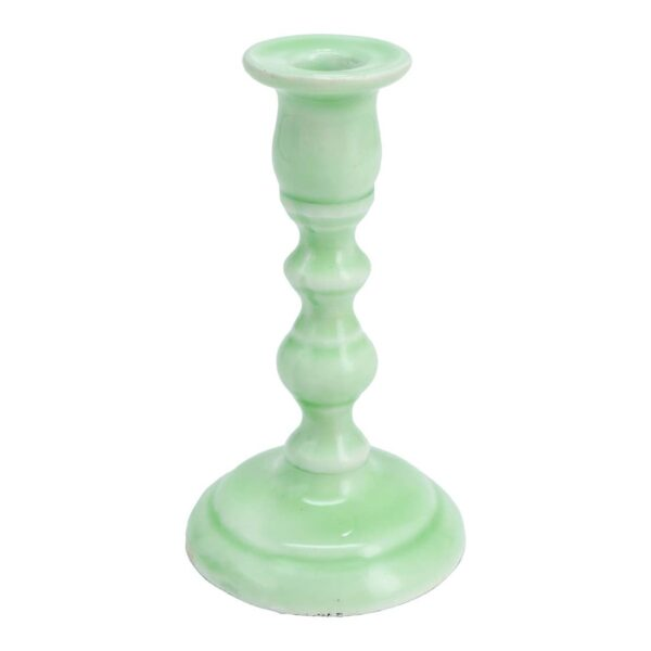 Small Mint Tapered Candle Holder 1