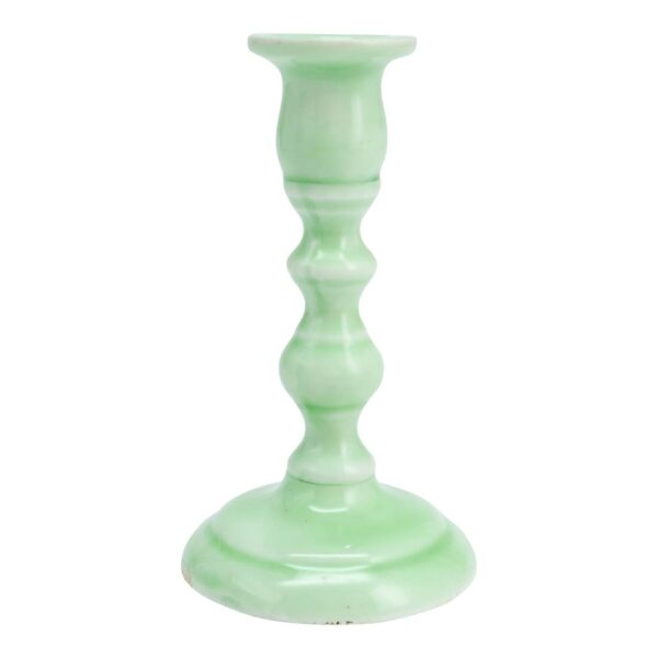 Small Mint Tapered Candle Holder