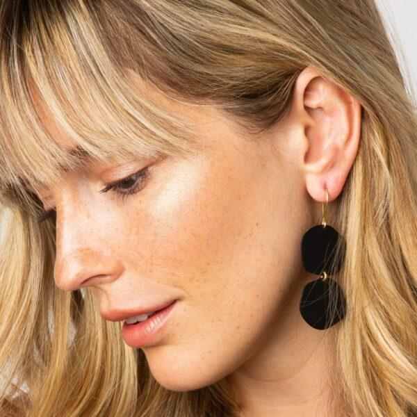 Black Brass Matte Earrings 2