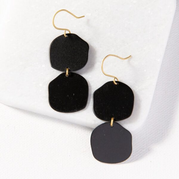 Black Brass Matte Earrings