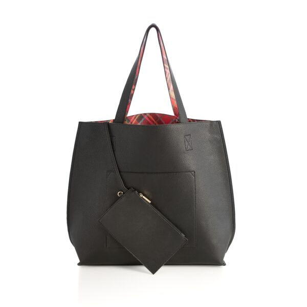 Black and Holly Reversible Tote 1