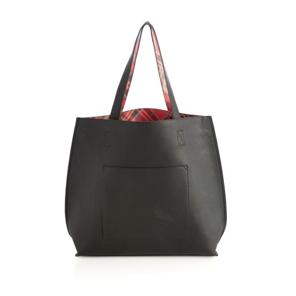 Black and Holly Reversible Tote