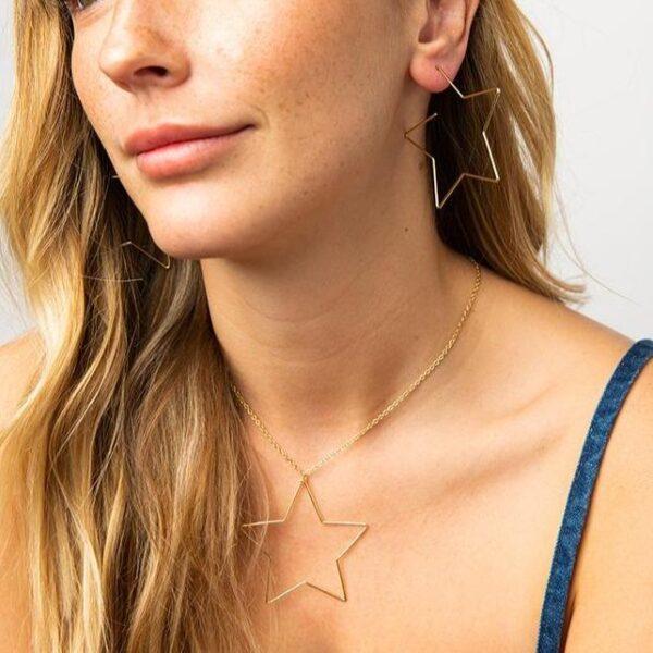 Brass Star Earrings 1