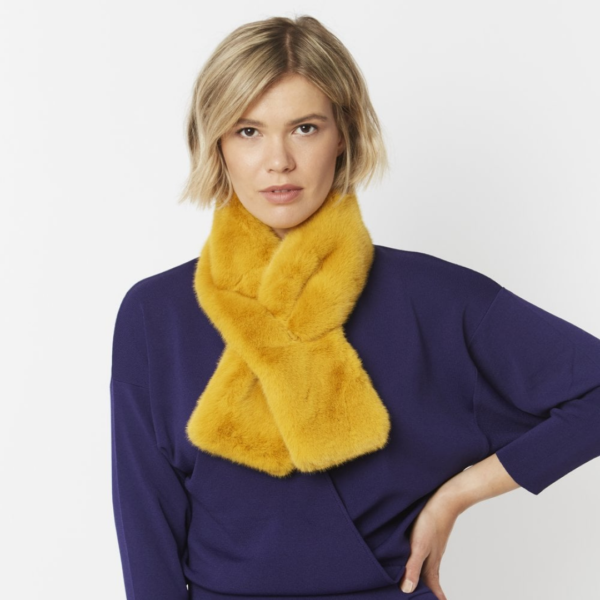 Goldenrod Faux Fur Scarf