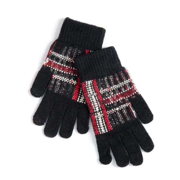 Kate Black and Red Touchscreen Gloves