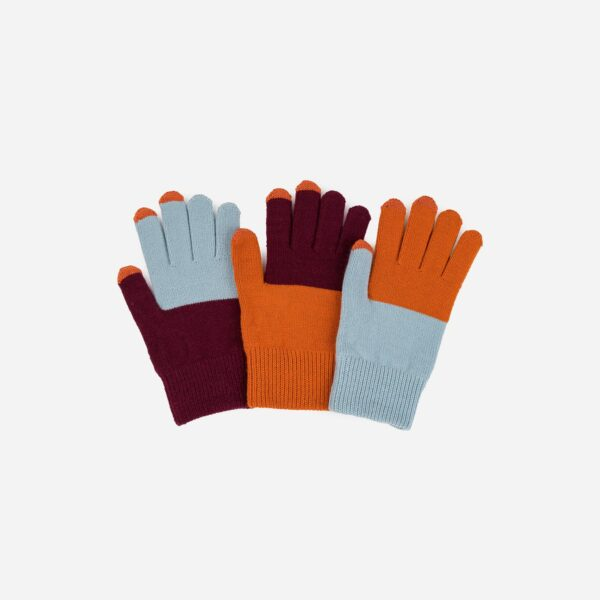 Stone, Blue and Rust Pair and a Spare Glove Set