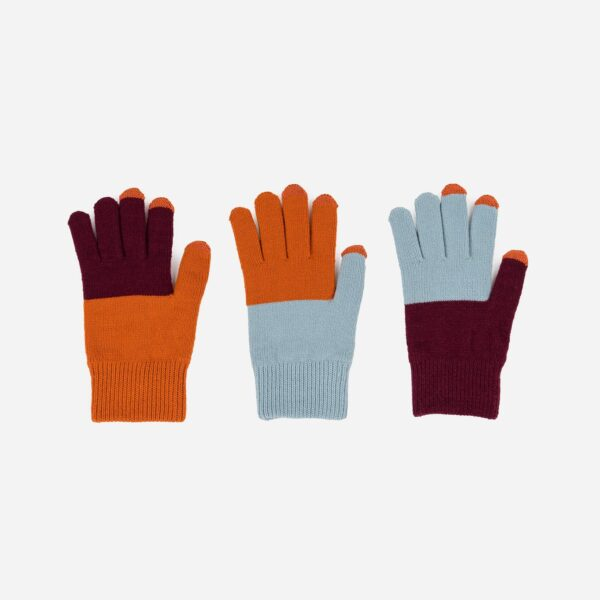 Stone, Blue and Rust Pair and a Spare Glove Set 1
