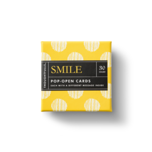 Smile Pop-Open Card Set Box Top