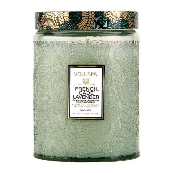Voluspa French Cade and Lavendar Large Jar Candle