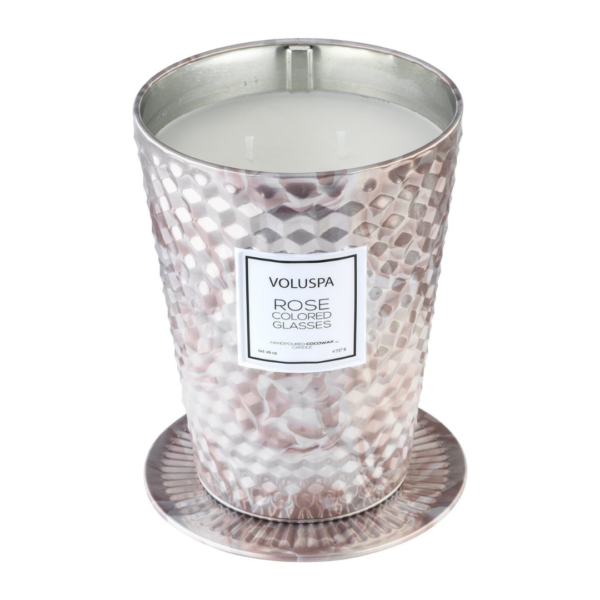 Voluspa Rose Colored Glasses Table Tin Candle 1