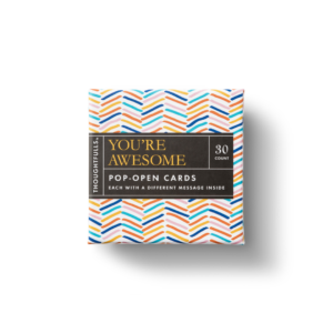 You're Awesome Pop-Open Card Set Box Top