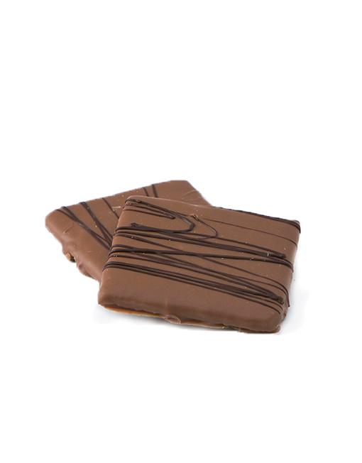 6 Piece Hand-Dipped Milk Chocolate Graham Crackers Detail