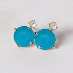 Aqua Post Earrings