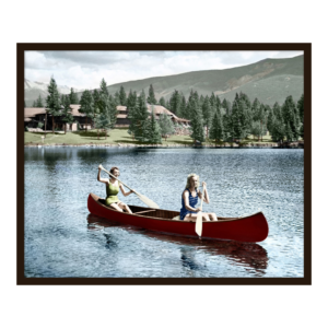 Canoeing at the Lodge Artwork