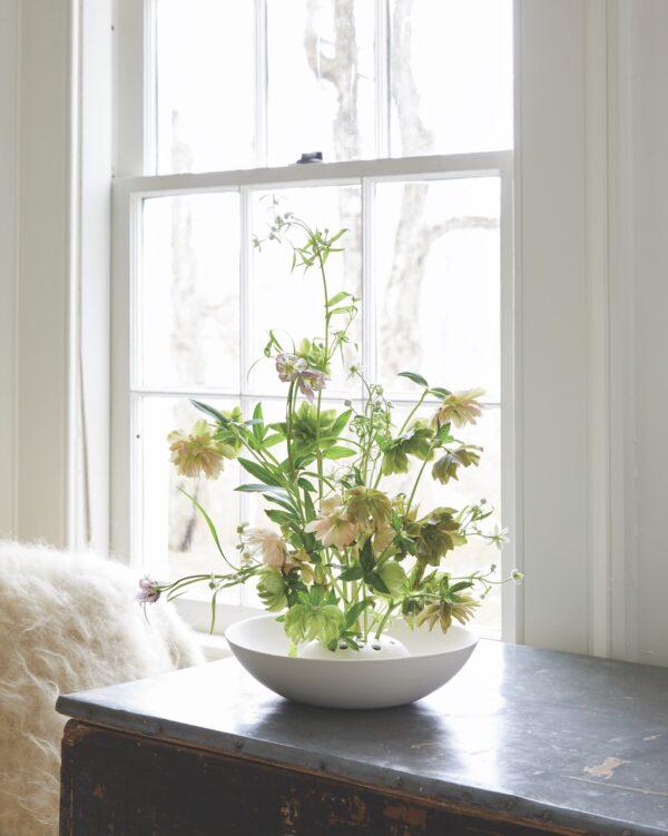 Ceramic Floral Frog Bowl Lifestyle