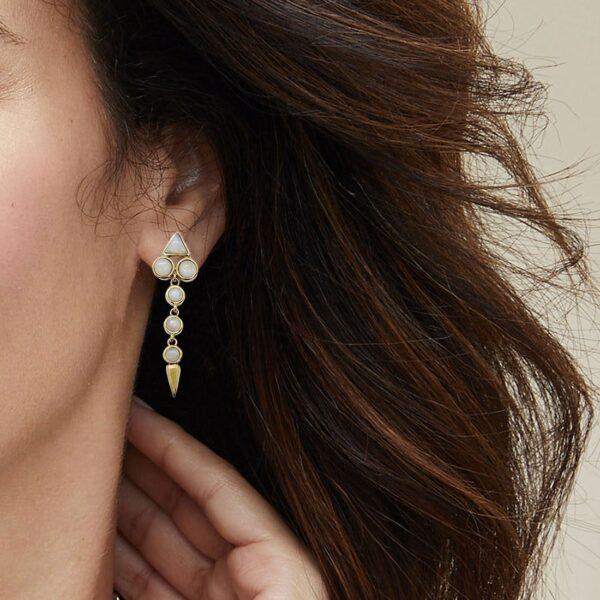 Drop Moonstone Earrings 1