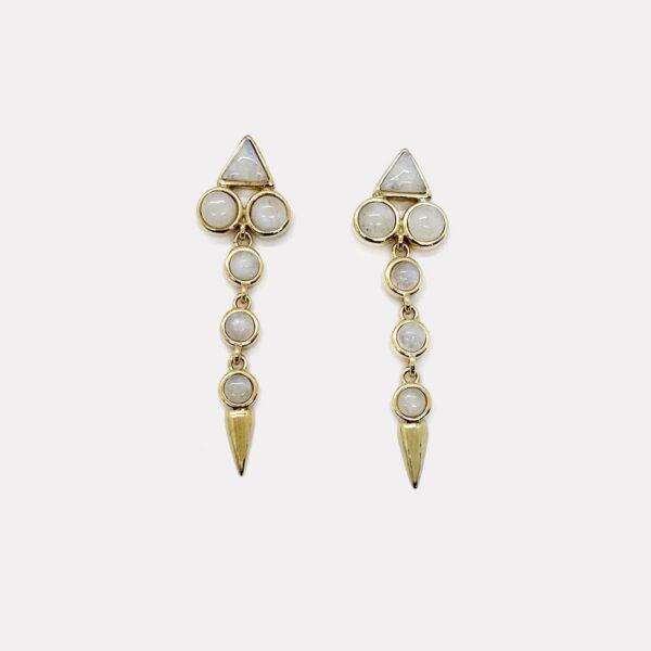 Drop Moonstone Earrings